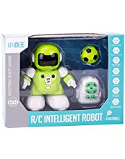 R/C Intelligent football Robot,Infrared Remote Control Dancing Soccer Shooting Toys Gift for Kids (Green)