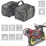 Compatible con Polaris Outlaw 450 MXR Pareja Bolsa Lateral para Motos Scooter Kappa AH202 29X15>24X45CM Universal Negro