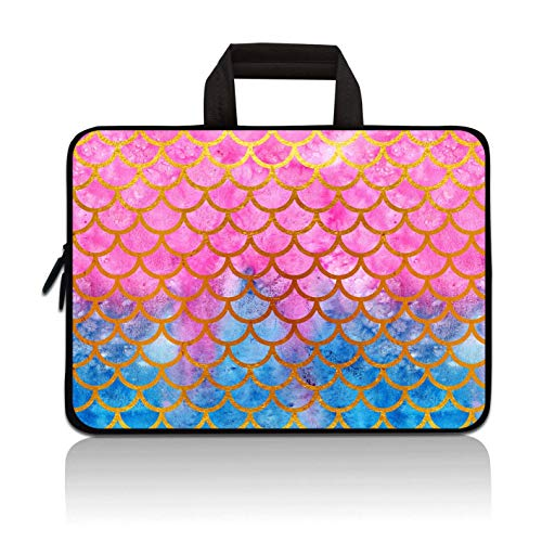 11' 11.6' 12' 12.1' 12.5 Inch Laptop Carrying Bag Case Notebook Ultrabook Bag Tablet Cover Neoprene Sleeve Briefcase Bag Compatible with Samsung Google Acer HP DELL Asus(Mermaid Scale)