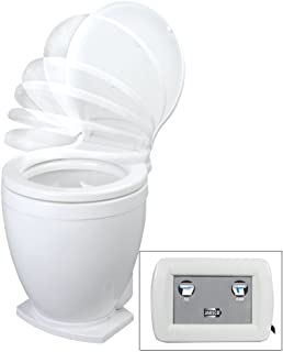 Jabsco Lite Flush Compact 12 Volt Marine Electric Toilet with Panel Control