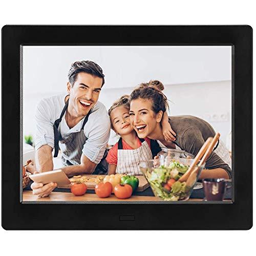Digitaler Bilderrahmen, ZOTO 8 Zoll Elektronischer Fotorahmen mit Fernbedienung, Digitaler Fotorahmen/Musik/Video-Player Kalender Wecker automatischer EIN/aus Timer