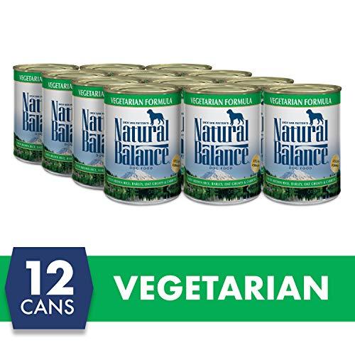 Natural Balance Vegetarian Formula Wet Dog Food, Brown Rice, Barley, Oat Groats & Carrots, 13 Ounce Can (Pack of 12), Vegan