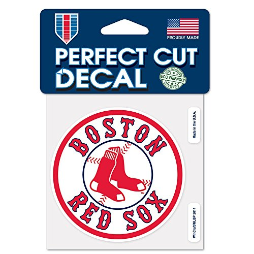 WinCraft MLB Boston Red Sox 26845014 Perfect Cut Color Decal, 4' x 4', Black