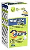 Melatonina Pura 1,95 mg – 60 Comprimidos Bucodispersables | Relafit - Laboratorios MS | Suministro para 2 meses | Efecto flash | Rápida Absorción | Melatonina Pura | Insomnio & Sueño | Vegana