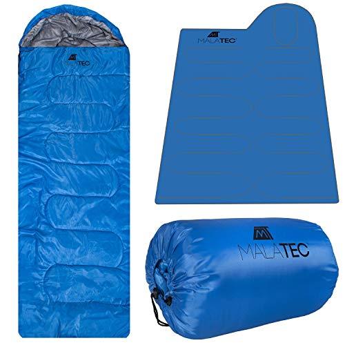 MT Malatec 10248 - Saco de dormir para acampada, azul