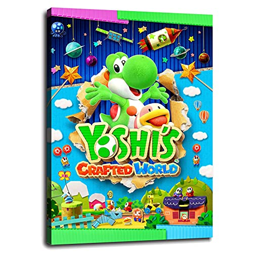 Asailor Yoshis Crafted World Poster Canvas Prints Wall Art For Home Office Bedroom Decorations With Framed 18'x12'