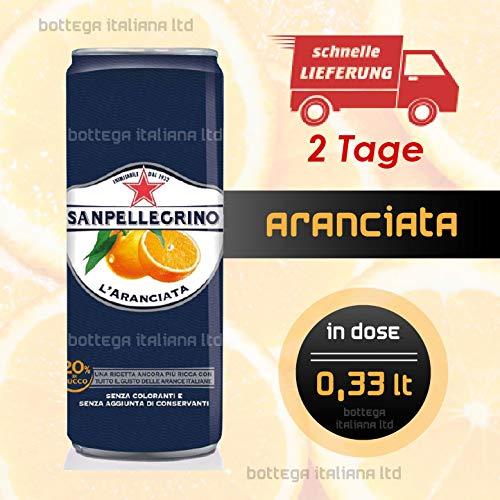 ARANCIATA Sanpellegrino in Dose (24 Stück à 0,33 Lt)
