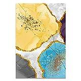 U/N Cuadro Moderno con Estampado de Acuarela, Carteles e Impresiones de Bloques de Colores Abstractos para Sala de Estar, Arte de Pared, Lienzo, Pintura al óleo, decoración para el hogar-8