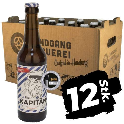 Landgang Brauerei - Der Kapitän - alkoholfreies Pale Ale - 12er Karton (12 x 0,33l) - <0,5%