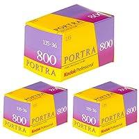 Ritz Camera 3個パック Kodak 145 1855 プロフェッショナル ポートラ 800 カラー ネガフィルム (ISO 800) 35mm 36枚撮り