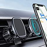[2 Pack] LISEN Car Phone Mount Magnetic Phone Car Holder Mount, [6 Strong Magnet] [Upgraded Clip] Magnetic Phone Holder for Car 360° Rotate Vent Car Phone Holder Fit for 4-6.9 inch All Phone & Tablet