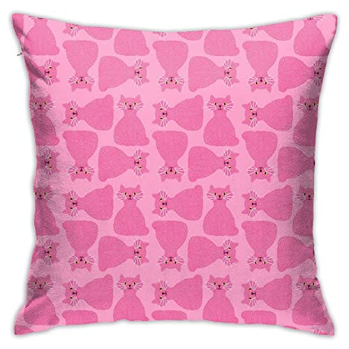 87569dwdsdwd Knotty Cat Pink, Smallhippopottermiss Throw Pillow Cover Pillow Cases For Home Decor Design Cushion Case For Sofa Bedroom Car 18 X 18 Inch 45 X 45 Cm