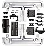 W10712395 Dishwasher Upper Rack Adjuster Kit Compatible with whirlpool kitchenaid kenmore, Upgraded Replaces for AP5957560, W10350375, W10250159, PS10065979, wdta50sahz0, wdt970sahv, wdt780saem1, etc