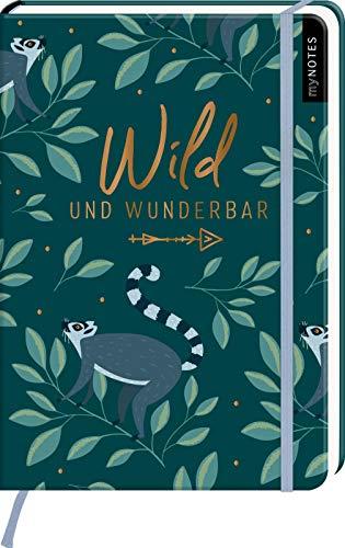 myNOTES Notizbuch A5: Wild und wunderbar: Notebook medium, gepunktet   Für Ideen und Pläne: Ideal als Bullet Journal oder Tagebuch