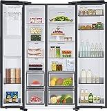 Samsung RS6GA8521B1/EG Side-by-Side Kühlschrank mit SpaceMaxTechnologie, 409 LiterKühlschrank, 225 Liter Gefriervolumen, 351 kWh/Jahr, Premium Black Steel - 7