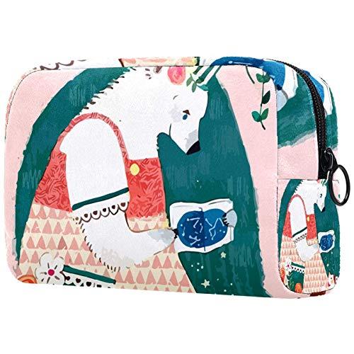 Schminktasche Travel Cosmetic Bag Pouch Geldbörse Handtasche mit Reißverschluss - Mutter Bär