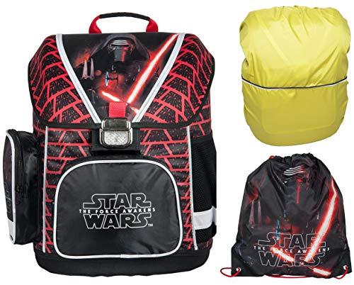 Star Wars Schulranzen Jungen 1 Klasse Tornister Schulrucksack Schultasche Set 3 teilig für Grundschule super leicht !