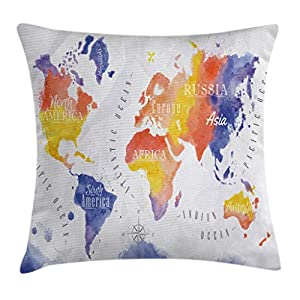 Modern Decor Throw Pillow Cushion Cover by Ambesonne