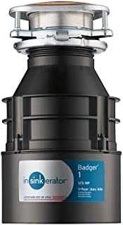 InSinkErator Garbage Disposal, Badger 1, 1/3 HP Continuous Feed
