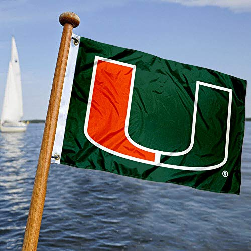College Flags & Banners Co. Miami Canes Boat and Nautical Flag