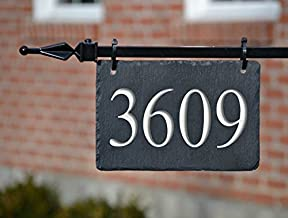 light post hanging address sign