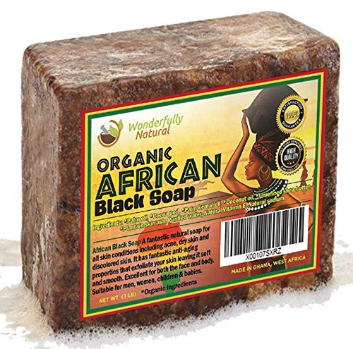 African Black Soap 1 Pound Bar | #1 Acne Treatment | Eczema Soap | 60 day Satisfaction...