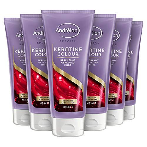 Andrélon Special Haarmasker Keratine Voor gekleurd haar 6 x 180 ml Voordeelverpakking