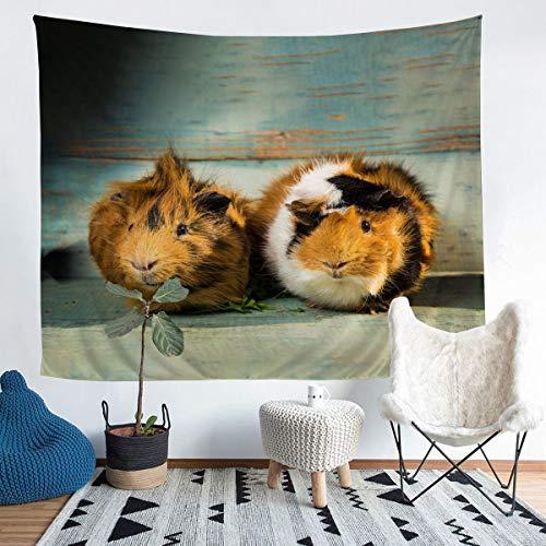 Tapiz para colgar en la pared, diseño de cerdo de indias 3D, para niños, niñas, adolescentes, linda mascota, decoración de pared, estilo encantador, manta grande de 58 x 79