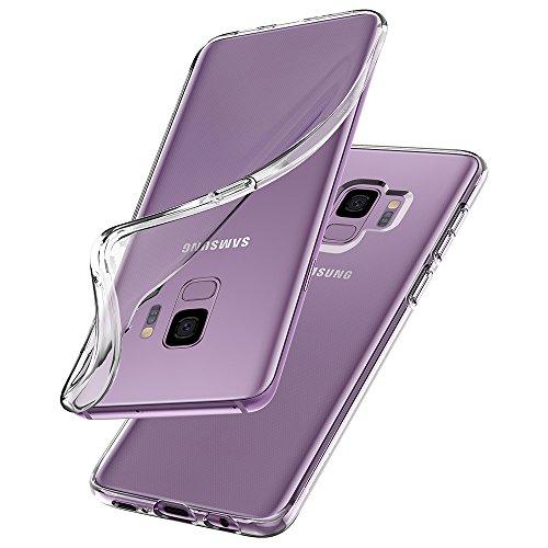 【Spigen】 Galaxy S9 ケース [ SC-02K SCV38 ] 対応 TPU 全面クリア 衝撃吸収 柔軟 薄型 軽量 グレア防止 ワイヤレス充電対応 リキッド・クリスタル 592CS22826 (クリスタル・クリア)