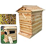 VPABES Wooden Beehive Box Bee Hive House Auto Honey Beekeeping Beehive Brood Box House Max 7Pcs Auto Flow Beehive Frame Comb