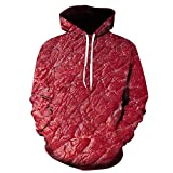 Moda 3D Funny Sudaderas Divertidas Unisex Unisex Carne Fresca Carne de Res Hotstyle Pullover Color 8 XXL