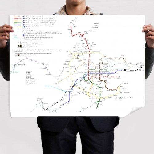 Mural Mapa. Galicia Física E Política