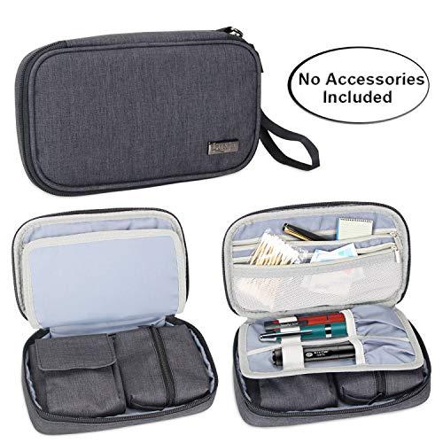 Luxja Diabetikertasche für Unterwegs, Tasche für Blutzuckermessgeräte und Diabetiker Zubehör (Nur Tasche), Schwarz