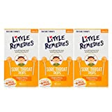 Little Remedies Sore Throat Pops | Made With Real Honey | Ages 3+ | 10 Count (Pack of 3) Pops