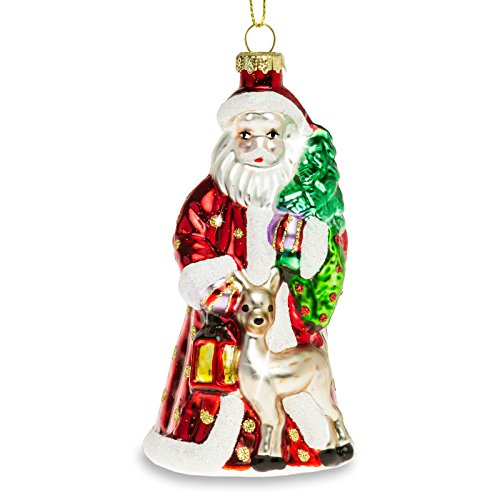 Sikora BS440 Addobbi per Albero di Natale Pendente in Vetro - Babbo Natale