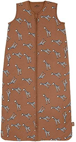 Jollein Sommerschlafsack Design: Giraffe 110 cm, aus 100% Baumwolle und einen Reißverschluss, Karamell