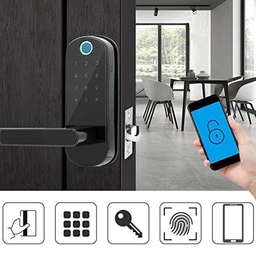 Pantalla táctil Inteligente de la manija Cerradura de la Huella WiFi aplicación Inteligente pestillo de la Cerradura electrónica de la Puerta Bloquear Teclado código numérico para el hoga.
