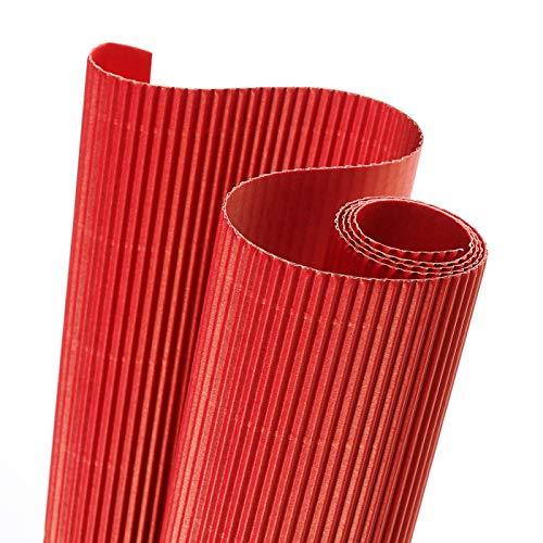 Canson 200992610 - Rollo de cartón ondulado 50 x 70 cm, color rojo