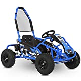 MotoTec Mud Monster 98cc Go Kart Full Suspension Blue