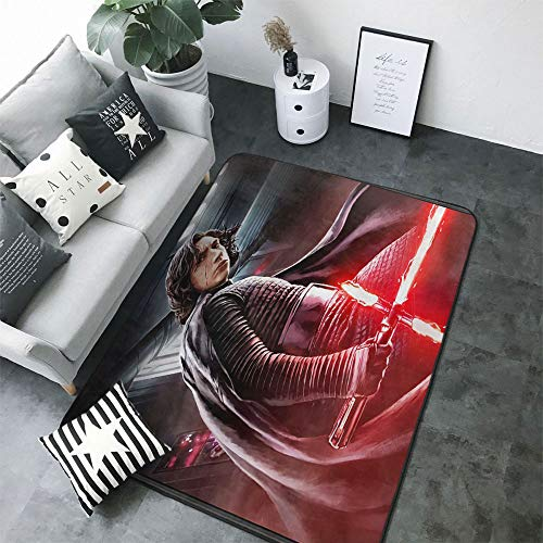 S-Tar-Wars Sofa Area Rug Fade and Wear Resistant Anti-Fatigue for Standing Comfort for Living Room Kids Room, 3'x4' S-Tar-Wars