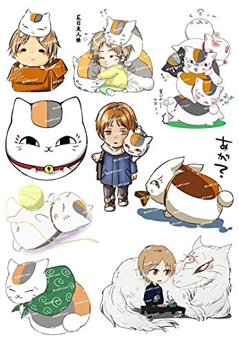 Medio F0197-03 Natsume Friends Dibujos Anime Cochecito de Viaje Pegatinas Impermeable