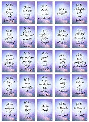 Edition Seidel Set 25 Postkarten Affirmationen für mehr Erfolg, Freude, Glück, Gesundheit und Liebe