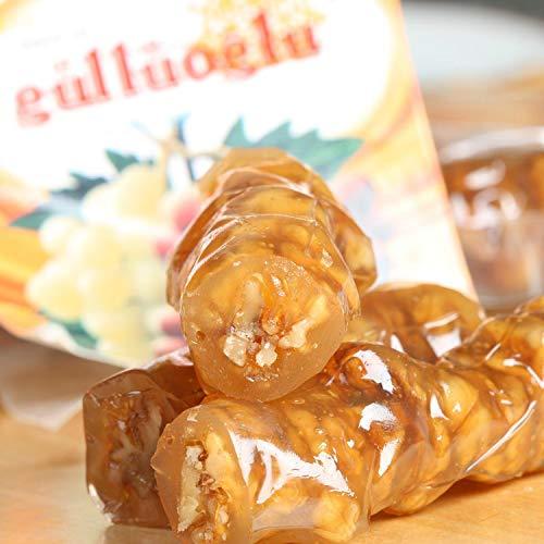 Gulluoglu Walnut Churchkhela (Cevizli Sucuk), Turkish Traditional Loqum (Lokum) Walnut Fresh Gourment Food - Turkish Delights Cevizli Sucuk (Cevizli Sweet Walnut Soujouk) (4.4lbs)