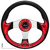 Roykaw Golf Cart Steering Wheel for EZGO TXT/RXV Club Car DS/Precedent Yamaha G16-G29/Drive