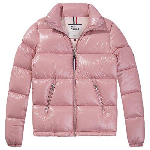Tommy Jeans Femme BASIC Jacket Blouson Manches Longues Doudoune Rose (Blush 682) Large