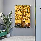 wanmeidp Lebensbaum Kunstdruck auf Leinwand Lebensbaum Berühmtes Gemälde Replikat Ölgemälde 50x75cm