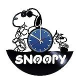 Snoopy Vinyl Record Handmade Wall Clock Original Gift Idea for Him or Her, Boys or Girls/Cool Home Decor Wall Art Bedroom Nursery Living Room Kitchen Clock