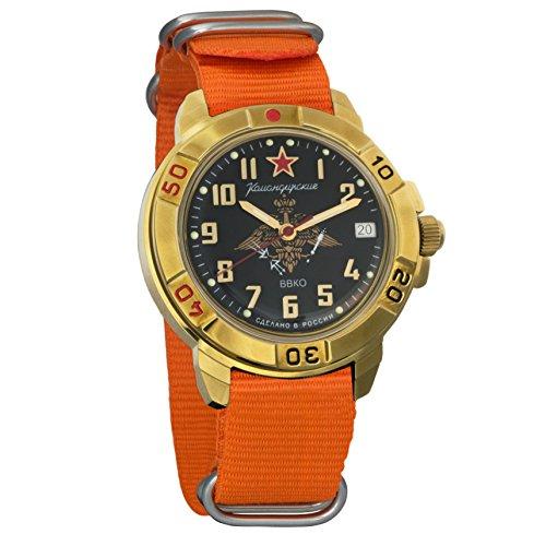 Vostok Komandirskie - Reloj de pulsera militar para hombre, diseño de las fuerzas de defensa aeroespacial VVKO #439632