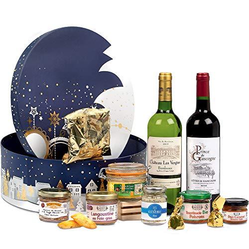 COLIS GOURMANDS - Panier Garni - Coffret Gourmand À Offrir - Panier gourmand - Idéal pour Cadeau Fête des Mères, Fête des Pères, Anniversaire, Noël, Retraite - Coffret étoilé