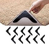 ZUO XI Rug Gripper, 10 PCS Non Slip Washable Rug Tape, Anti Curling Rug Pad, Keep Your Rug in Place & Make Corner Flat, Rug Gripper for Hardwood Floors, Tile Floors, Carpets, Floor Mat